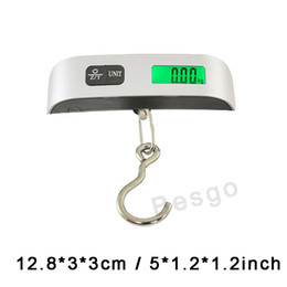 50kg Capacity Mini Digital Luggage Scale Portable Hand Held LCD Electronic Scale Electronic Hanging Hook Scale Weighing Device DBC BH2895 on Sale