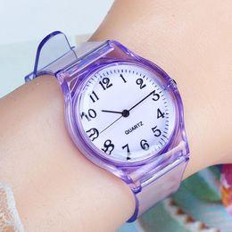 $enCountryForm.capitalKeyWord Australia - LinTimes Women Men Lovers Watches Fashion Transparent Candy Color Plastic Band Casual Quartz Watches