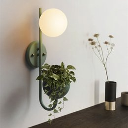 $enCountryForm.capitalKeyWord NZ - Nordic Macarons Color Plant Wall Lamps Bedroom Bathroom Glass Ball Wall Light Restaurant Clothing Store Cafe Decoration Wall Lamp Stair lamp