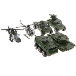 Car Helicopter Toy Australia - 6pcs set Diecast Metal Army Vehicle Toy Set, 1 87 Scale Jeep Tank Helicopters Car Model Toy for Kids Children