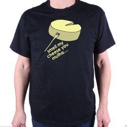 Black Cheese Australia - SMELL MY CHEESE T SHIRT Men Women Unisex Fashion tshirt Free Shipping Funny Cool Top Tee Black