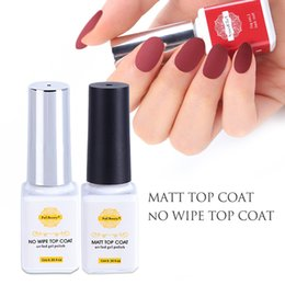 Nail Gel 6 ml No Wipe Top Coat Matte Top Coat Seal Vernis Soak Off Gel Nail base Laque polonais
