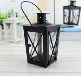 $enCountryForm.capitalKeyWord Australia - Cheap classical small Metal candle holder Small Iron lantern Black Color small wedding lantern