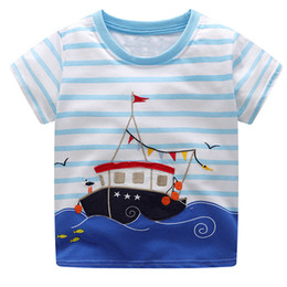Baby Boys Tees Australia - Boys Summer Clothes Children T shirts 2019 Brand Tee Shirt Fille Cotton Tops Kids Clothing Animal Pattern Baby Boy T-shirts