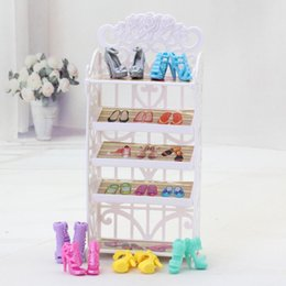 Wholesale Kids Girls Gift Doll Furniture Shoes Rack Playhouse Accessories New Fashion Dolls Shoe Rack