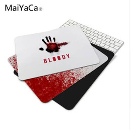 Bloody Mice Australia - anti-slip mouse diy design bloody gamer pc large gaming laptop Red mouse pad black paint rubber mouse pad