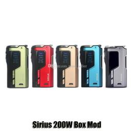 100% Original Perdido Vape Sirius 200 W TC Mod Box VW Perdervape 18650 Bateria Mod Para 510 Atomizador de Linha em Promoção
