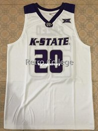 23185b0855b #20 Xavier Sneed Kansas State Wildcats College Basketball Jersey Black  Embroidery Stitched Customize any size and name XS-6XL Vest Jerseys N
