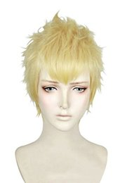 $enCountryForm.capitalKeyWord UK - Game P5 Persona 5 Ryuji Sakamoto Short Milk Blonde Layered Cosplay Hair Wig