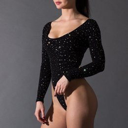 f3315e13a88 Brand New 2019 Womens Sexy One-Piece Long Sleeve O-neck Backless Sheer Mesh  Jumpsuit Leotard Thong Bodysuit