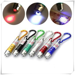 Flashlight Pens Wholesale Australia - Outdoors LED Flashlight 3 In 1 LED Light Red LED Laser Pen Pointer Flash Light Fashion Torch Flashlight Emergency Keychain