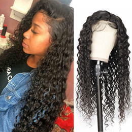 lace front peruvian wig 2019 - Peruvian Loose Wave Human Hair Lace Front Wigs YakiStraight Brazilian Hair Water Wave Loose Wave Deep Curly Human Hair W