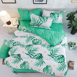 black white silver comforter sets 2019 - Tropical 4pcs Girl Boy Kid Bed Cover Set Duvet Cover Adult Child Bed Sheets And Pillowcases Comforter Bedding Set 2TJ-61