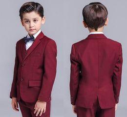 Jacket Shops Australia - Spring Summer New Boys Small Suits 3 Pieces Jackets,Pants,Vests 3-piece Boys Dresses More Styles Shop Selection (jacket+pants+vest)