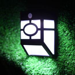 Gutter liGhts online shopping - Edison2011 Leds Motion Sensor Solar Light Outdoor Waterproof Garden Landscape Lawn Solar Power LED Fence Gutter Wall Lamps