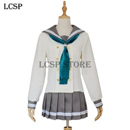 Sailor Female Costume Australia - nime love live LCSP LoveLive!Sunshine!! Aqours Kurosawa Dia Cosplay Costume Japanese Anime Love Live Girl Sailor School Uniform Outfit Cl...