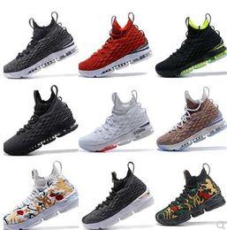 sports shoes 8ff73 15562 2018 neue hochwertige neueste ashes ghost lebron 15 basketball-schuhe schuhe  ankunft turnschuhe 15 s männer casual 15 sportschuhe größe 40-46