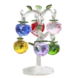 planting apple tree UK - DIY Christmas Crystal Apple Tree Decoration Apples Crafts Home Decoration Figurines Souvenirs Decor Ornaments New Year Gifts