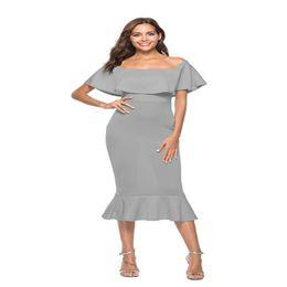 6dca1243156b Vestito da sera bianco senza bretelle sexy online-vestito da partito di sera  delle donne