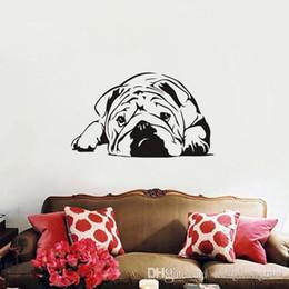 Design Glasses For Kids Australia - For Kids Room Bedroom Decor dog animal Wall Art Decoration English Bulldog Wall Stickers Removable Wallpaper wn638