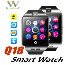 call phones free Canada - Brand Designer Phone Watch New Women's Men's Wireless Bluetooth Watch Multi-function Watch Free shipping Q18 Suitable for all occasions