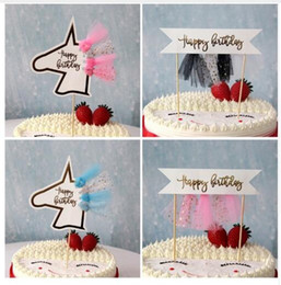 unicorn cakes 2019 - Wedding Decorations Cake Topper Unicorn Shaped Tulle Tassel Wedding Children Birthday Party Baby Shower Baking Cake Deco