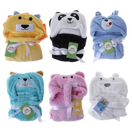 Discount towel hoodies - Baby Bath Towel Cartoon Cute Blanket Kids Children Hoodie Wipe Cloak Animal Hat Hooded Bathing Suit Bathtub Soft Comfort