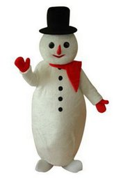 Snowmen Costume UK - Sale!new fashion White Beer Belly Snowman Cartton Mascot Costume Character Halloween Costumes Fancy Dress Suit Free Shipping