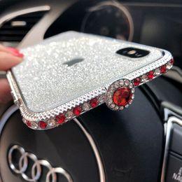 Iphone Metal Bumper Diamond Australia - Luxury Bling Diamond Metal bumper Frame For iPhone XS X 6S 7 8 Plus Fashion Style Crystal Rhinestone Cover Case Glitter Capa