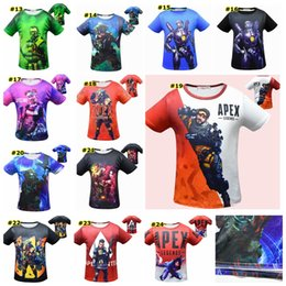 $enCountryForm.capitalKeyWord Australia - Baby boys Apex legends print T-shirts 2019 summer Tops cotton children Tees kids Clothing 24 colors MMA1541 50pcs