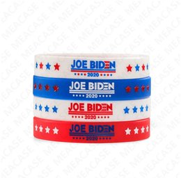 mix color bangle UK - Joe Biden for President Bracelet Silicone Bangles for Women Men 2020 USA America Voting Rubber Wristband Solid Color Jewerly Gifts DHL D7211