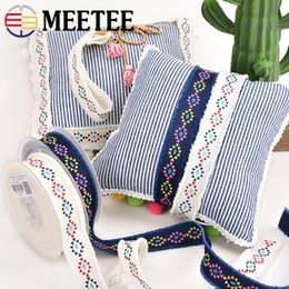 Wholesale Meetee cm width National Webbing Ribbon Clothing Accessories Lace Handmade DIY Materials Holiday Gift Packaging
