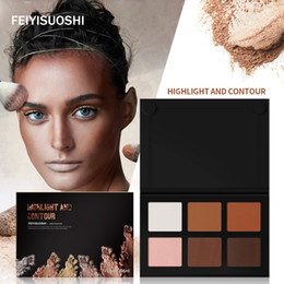 Discount bronze makeup palette - 6 Colors Light Medium Contour Kit Bronze Glow Pressed Palette Highlighter Bronzer Contouring Makeup Set