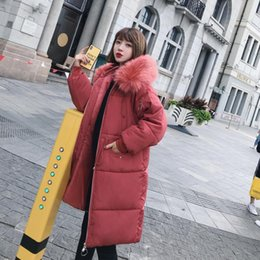 b4abdd18abb ELEXS Big fur winter coat thickened parka women extra long coat down cotton  ladies down parka down jacket women E8806
