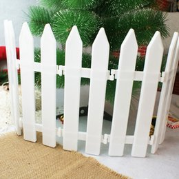 Discount plastic fencing - White Plastic Fence Christmas Tree White Plastic Fence Garden Decoration Christmas Home Party Decor Office Room Decorati