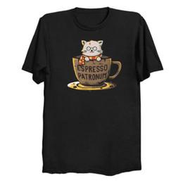 Custom Print T Shirt Cheap Australia - High Quality Custom Printed Espresso Patronum Men's T-Shirt Men's Clothing T-Shirts Tees Men Hot Cheap Short Sleeve Male