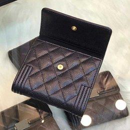 brand business card 2019 - High Quality Woman Designer Luxury Wallet Fashion Handbag Designer Brand Luxury Credit Card Holder With Box Free Shiping