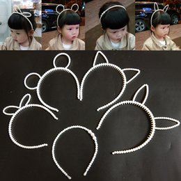 Wholesale beaded trims resale online - Pearl Drill Child s Hairpillar Hoop Korean Princess s Handmade beaded Child s Hair Trim