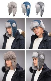 $enCountryForm.capitalKeyWord Australia - Stand Focus Unisex Russian Faux Fur Bomber Hat Skiing Women Men Fashion Winter Plaid Wool Blend Earflap Trapper Ushanka Aviator Outdoor Warm