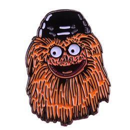 $enCountryForm.capitalKeyWord UK - Cute Gritty badge Philadelphia Flyers new mascot pin fun terrifying brooch cool hockey fans jewelry