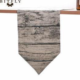 Chinese  Vintage Retro Table Runner Tree Stripe Pattern Table Cloth Cover For Wedding Banquet Home Party Decor TV Cabinet Cover Towel manufacturers