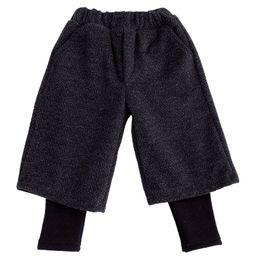 $enCountryForm.capitalKeyWord Australia - WLG girls winter velvet fake two pants kids girls christmas thick casual harem trousers baby all match loose pant children 1-6T