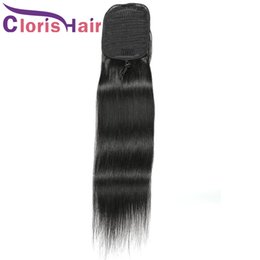 hair colors women 2021 - Straight Ponytail 100% Human Hair Drawstring Ponytail With 2 Clips In For Women Bun Drawstring Peruvian Virgin Hair Exte