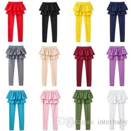 $enCountryForm.capitalKeyWord Australia - Girls Leggings Kids Dance Pantyhose Fake Two Pieces Skirt Pants Tights Toddler Candy Color Long Stocking Spring Boutique Trousers YFA806