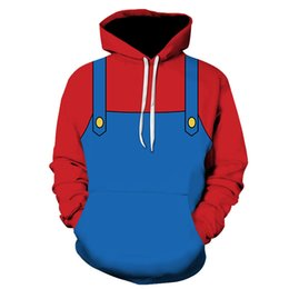 Discount mario costumes women - PLstar Cosmos Mario Costume coseplaySuper Mario Tees 3D Print Hoodie Sweatshirt Jacket Zipper Man Women Tops tee XS-7XL