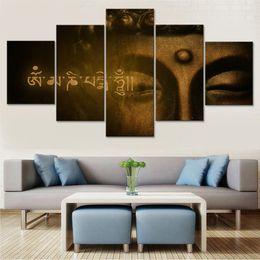$enCountryForm.capitalKeyWord Australia - Canvas Poster Home Wall Art Painting Decor Living Room 5 Panel Gautama Buddha Metodo Ayurveda Frame HD Printed Modular Pictures