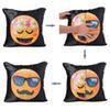 $enCountryForm.capitalKeyWord Australia - 40*40cm BeddingOutlet Emoji DIY Sequin Throw Chair Pillowcase Square Hand Sliding Changing Face Pillow Cars Bedroom Seat