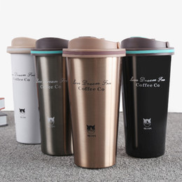 $enCountryForm.capitalKeyWord NZ - 500ml Thermos Mug Coffee Cup With Lid Thermocup Seal Stainless Steel Vacuum Flasks Thermoses Thermo Mug For Car My Water Bottle C19041601