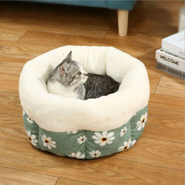 beds tents Australia - New Pet Bed Cat House Kennel Doggy Warm Cushion Basket for Small Medium Cats Fashion Strawberry Cave Cat Tent Puppy Nest Mat