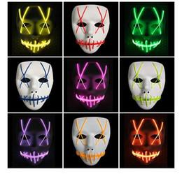 Neon Controller Australia - popular LED Light Mask Led strip Flexible neon sign Light Glow EL Wire Rope Neon Light Halloween face Controller christmas Lights